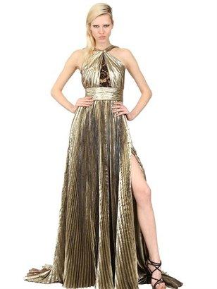 Emilio Pucci Laminated Silk Georgette Long Dress