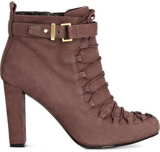 Reiss Kristina LACE UP BOOTIE
