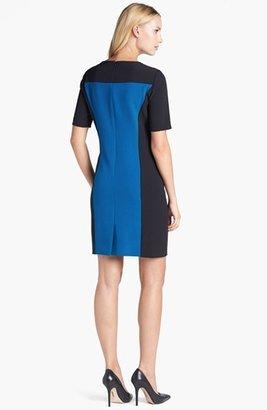 Tahari Colorblock Crepe Sheath Dress