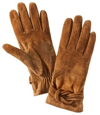 Merona Suede Love Knot Glove - Brown