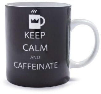 Sur La Table Paper Products Keep Calm And Caffeinate Mug