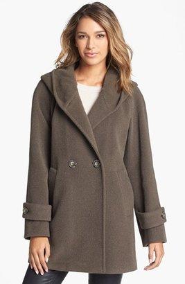 Hilary Radley Hooded Wool & Alpaca Blend Coat