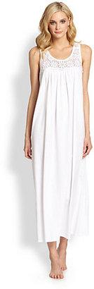 Oscar de la Renta Long Cotton Gown