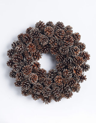 """Lord & Taylor 14"""" Pine Cone Christmas Wreath"""