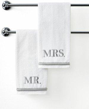 """Avanti Bath Towels, Mr. & Mrs. 16"""" x 30"""" Hand Towel Bedding"""