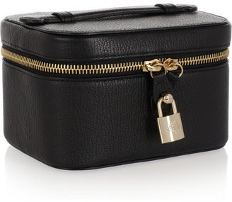Textured-leather jewelry case