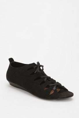 Urban Outfitters Deena & Ozzy Suede Lasercut Lace-Up Sandal