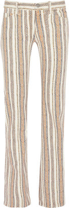 Etoile Isabel Marant Printed mid-rise flared jeans