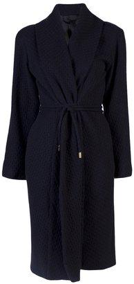 The Row Basket weave blanket coat