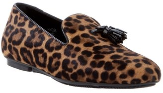 Hogan leopard print loafer