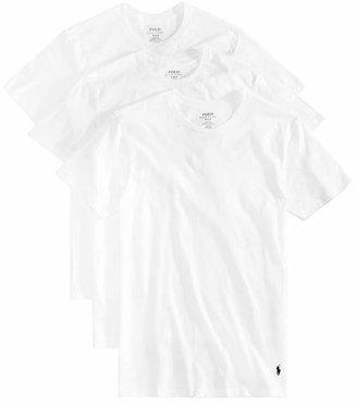 Polo Ralph Lauren Men Undershirt, Slim Fit Classic Cotton Crews 3 Pack