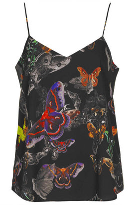 Topshop Butterfly Print V-Cami