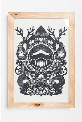 Urban Outfitters Emily Hogarth Stag Framed Wall Art