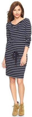 Gap Stripe cowlneck dress