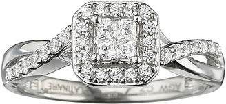 JCPenney FINE JEWELRY I Said Yes 3/8 CT. T.W. Certified Diamond Quad Ring