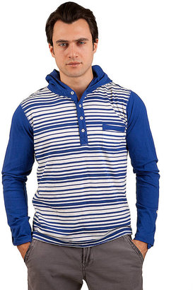 Ecko Unlimited MARK CUT & SEW Hooded Knit with Reverse Stripes