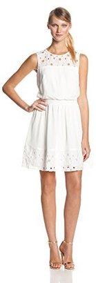 Jessica Simpson Women's Sleeveless Eyelet Dress