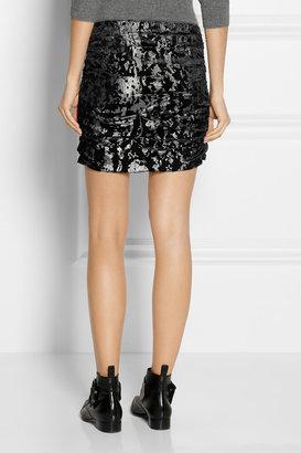 Maje Daina camouflage-jacquard mini skirt