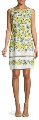Karl Lagerfeld Paris Sleeveless Printed Sheath Dress