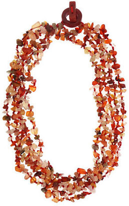 Lord & Taylor Aventurine Multi-Row Necklace