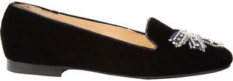 Alberto Moretti Embellished Velvet Loafer