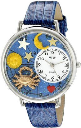 Whimsical Watches Unisex U1810004 Cancer Royal Blue Leather Watch
