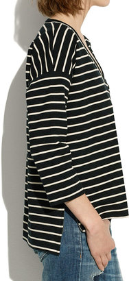 Madewell Side-Zip Slub Ponte Top in Stripe