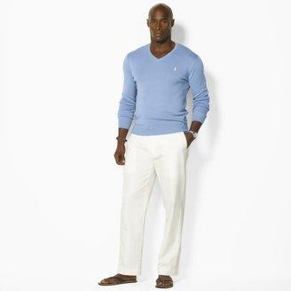 Polo Ralph Lauren Big & Tall Pima Cotton V-Neck Sweater