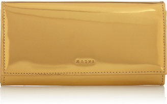 Marni Mirrored leather continental wallet