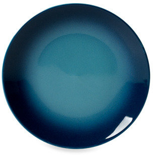 """Tabletops Unlimited Tabletops Unlimited™ Ombre Blue 8"""" Salad Plate - Set of 4"""