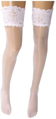 Wolford Satin Touch 20 Stay-Up Thigh Highs (White) Women's Thigh High Socks Shoes