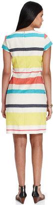 Tommy Hilfiger Short-Sleeve Striped Dress