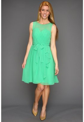 Suzi Chin for Maggy Boutique - Sleeveless Sweetheart Detail Faux Wrap Dress (Spearmint) - Apparel