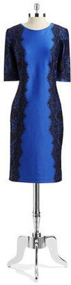 Chetta B Lace Print Sheath Dress