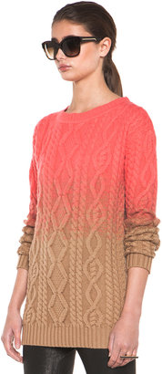DSquared Chunky Knit Pullover in Coral