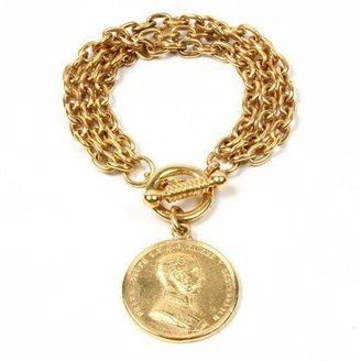 Ben-Amun - Moroccan Coin Charm Bracelet $130 thestylecure.com