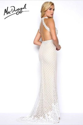 Mac Duggal Prom - 62720 High Neck Gown In Ivory/Nude