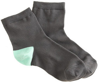 J.Crew Contrast-heel anklet socks