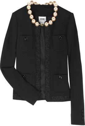 Moschino Cheap & Chic Moschino Cheap and Chic Pearl-embellished bouclé jacket