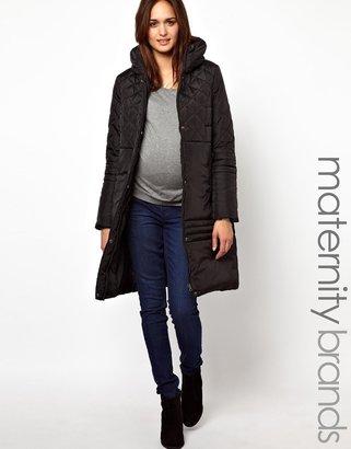 Mama Licious Mamalicious Belted Padded Coat