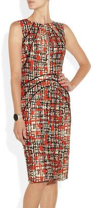 Lela Rose Printed wool and silk-blend dress