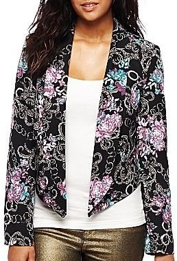 JCPenney Bisou Bisou® Cropped Tuxedo Jacket