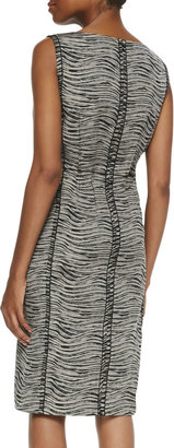 Lafayette 148 New York Viola Sleeveless Printed Sheath Dress