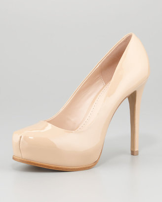 K. Jacques Irina Patent Leather Pump, New Nude