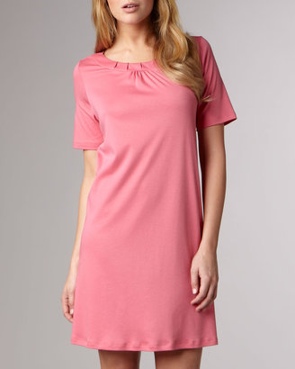 Hanro Jasmine Mercerized Sleepshirt, Rose