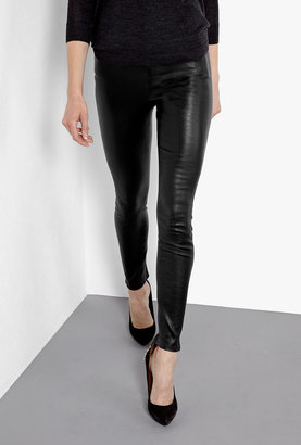 J Brand Aggy Leather Skinny Trousers With Zips