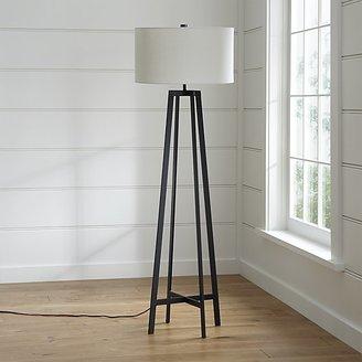 Crate & Barrel Castillo Black Floor Lamp