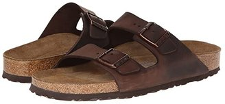 Birkenstock Arizona Soft Footbed - Leather (Unisex) (Blue Oiled Leather) Sandals