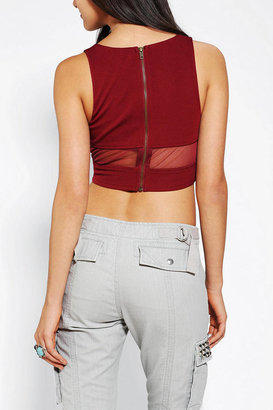 Sparkle & Fade Sheer Illusion Cropped Tank Top