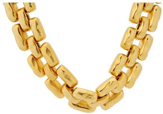 Kenneth Jay Lane 7953NSG Necklace (Satin Gold) - Jewelry